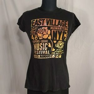 NYC Village Music Festival T Shirt Black So Love